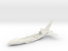Cessna421A-144scale-01-Airframe-Bottom in White Natural Versatile Plastic
