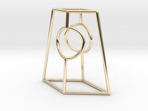 Diamond Portal in 14k Gold Plated Brass