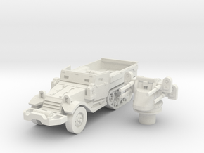 M17 AA halftrack scale 1/87 in White Natural Versatile Plastic