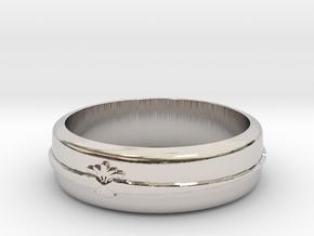Filigree ring 1 S8 in Rhodium Plated Brass
