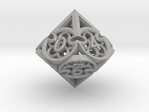 Gothic Rosette d10 in Aluminum