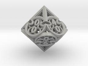 Gothic Rosette d10 Decader in Aluminum