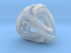 Twisted Tetrahedron in Smooth Fine Detail Plastic: Small