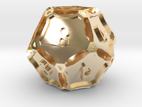 Large Premier d12 in 14K Yellow Gold