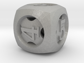 Overstuffed d6 in Aluminum