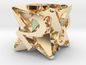 Pinwheel d6 in 14K Yellow Gold