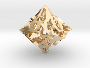 Pinwheel d10 in 14K Yellow Gold