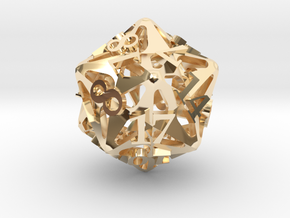 Pinwheel d20 in 14K Yellow Gold