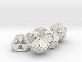 Premier Dice Set in White Premium Versatile Plastic