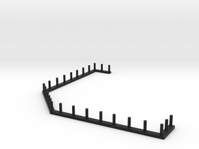 HO Scale Saloon - Awning Rail in Black Premium Versatile Plastic