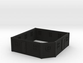 HO Scale Saloon Empty - Top Floor in Black Premium Versatile Plastic