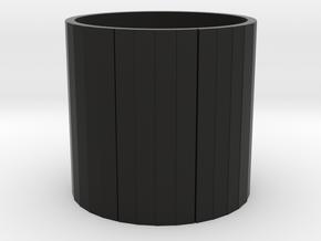 HO Water Tower Tank in Black Premium Versatile Plastic