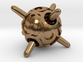 Sputnik Die8 in Natural Brass