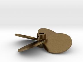 "2.50"" - BBP 25º RH - 3/16"" Shaft in Natural Bronze"