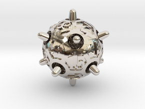Sputnik Die20 in Rhodium Plated Brass