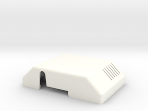 Thermostat Cover in White Processed Versatile Plastic