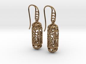 FitzLogo Filigree Earrings in Natural Brass (Interlocking Parts)