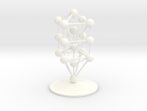 3D Tree of Life in White Processed Versatile Plastic: Medium