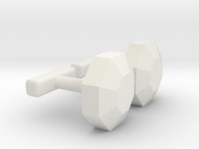 Pokemon boulder badge cufflink in White Natural Versatile Plastic