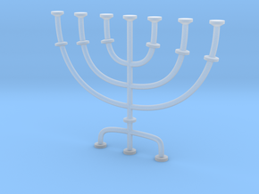 Menorah candlestick 1:12 scale model in Smooth Fine Detail Plastic