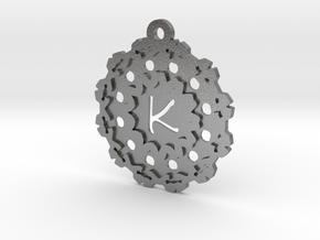 Magic Letter K Pendant in Natural Silver