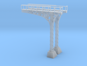 N Scale ATSF Style Cantilever 85p 2xRH w base in Smooth Fine Detail Plastic