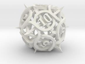 Thorn Die12 in White Premium Versatile Plastic