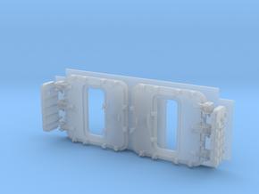 1/72 Burke Specific Doors - Open in Smooth Fine Detail Plastic