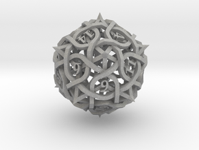 Thorn d20 Ornament in Aluminum