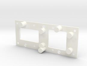 1025 Fixture in White Processed Versatile Plastic