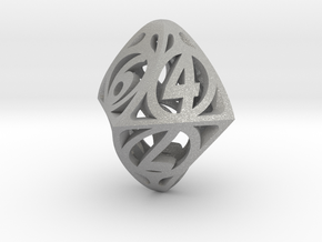 Twisty Spindle d8 in Aluminum