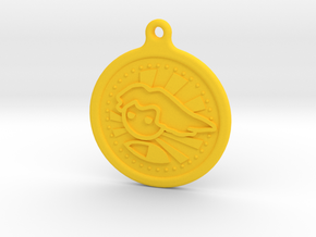 Pc Master Race V2 Keychain in Yellow Processed Versatile Plastic