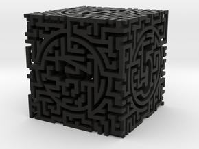 Labyrinthine Die6 in Black Premium Versatile Plastic