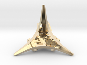 Caltrop d4 in 14K Yellow Gold