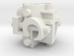 Ligature Die6 in White Premium Versatile Plastic