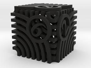 Moiré Die6 in Black Premium Versatile Plastic