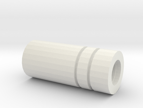 Sentinel Muzzle Tip (14mm Self-Cutting) in White Natural Versatile Plastic