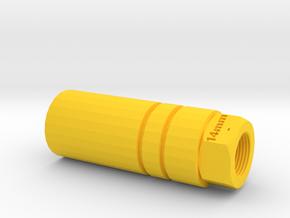 Sentinel Muzzle Tip (14mm-) in Yellow Processed Versatile Plastic