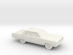 1/87 1968 Dodge Coronet Sedan in White Natural Versatile Plastic