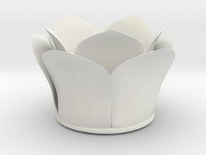 Orchid_Vase in White Natural Versatile Plastic
