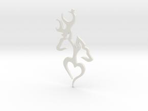 Deer in White Natural Versatile Plastic: Medium