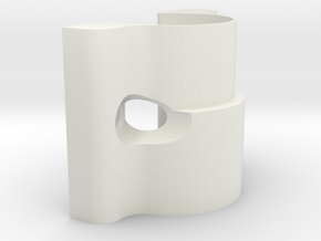 LM8-plate-side for i3 3d printer clone in White Natural Versatile Plastic