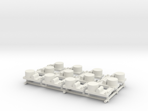 Small Naval Base x12 in White Natural Versatile Plastic