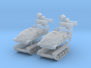 2x Wiesel 2 Ozelot Flak 1:160 in Smooth Fine Detail Plastic