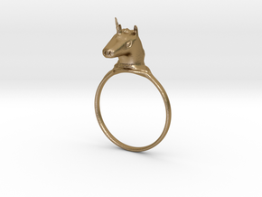 -Intense- Unicorn Ring in Polished Gold Steel: 5 / 49