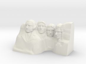 Mount Rushmore Monument in White Natural Versatile Plastic