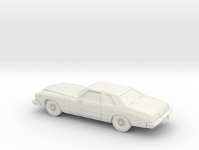 1/76 1974 Buick Riviera in White Natural Versatile Plastic