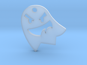 Little Cute Ghost Pendant in Smooth Fine Detail Plastic