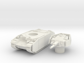 turan II (with side skirts) scale 1/87 in White Natural Versatile Plastic