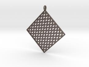 Pendant Pattern 1d  in Polished Bronzed Silver Steel